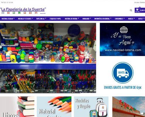 Tienda online La Papelería de la Suerte